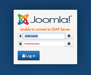Joomla Login LDAP Error