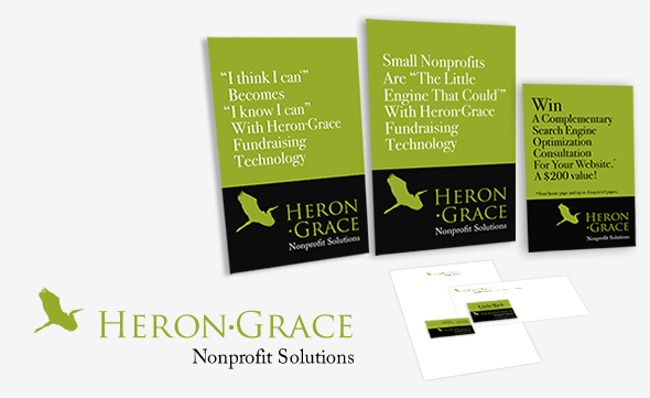 HeronGrace Nonprofit Solutions Print Collateral Images