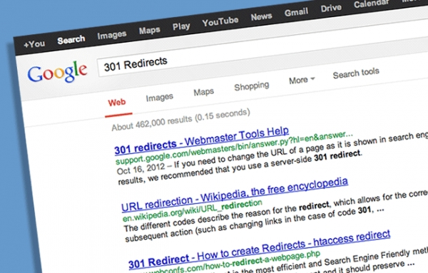 Server Side 301 Redirects Can Help Preserve Your Site's Search Result Rankings